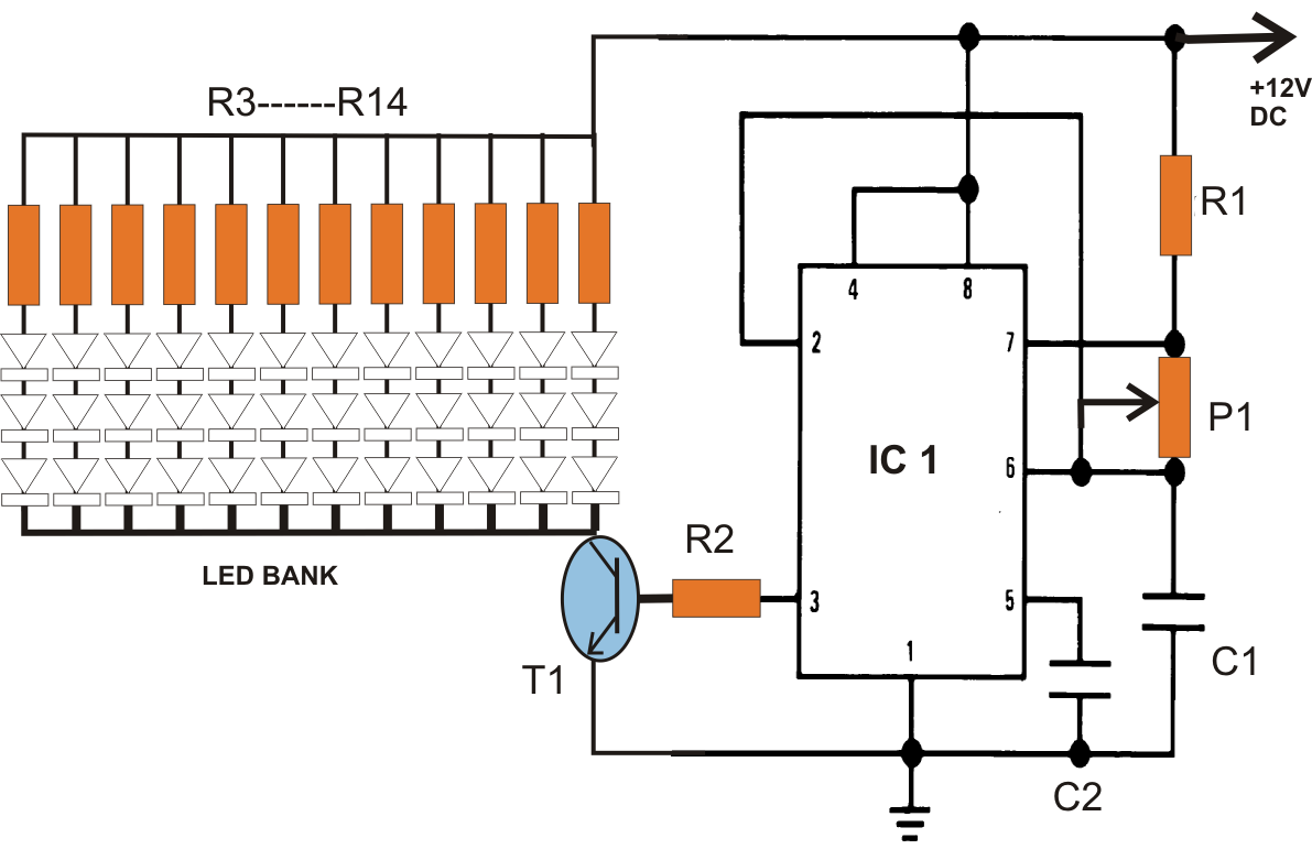 40 watt led pwm controll circuit diagram [ 1191 x 781 Pixel ]