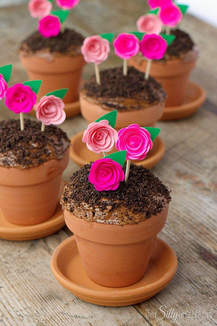 Easy Cake Baked In Flower Pots
