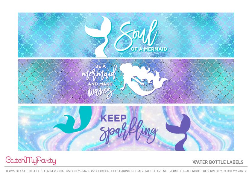 Download These Free Mermaid Printables Now! | Catch My Party