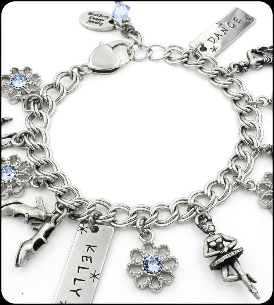 Girls dance charm bracelet dancing bracelets and ballet shoe