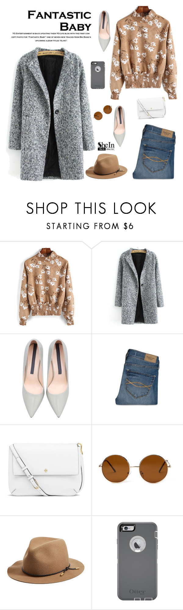 """""""Fantastic baby"""" by sabinakopic ❤ liked on Polyvore featuring Abercrombie & Fitch, Tory Burch, Forever 21, rag & bone, OtterBox, women's clothing, women, female, woman and misses"""