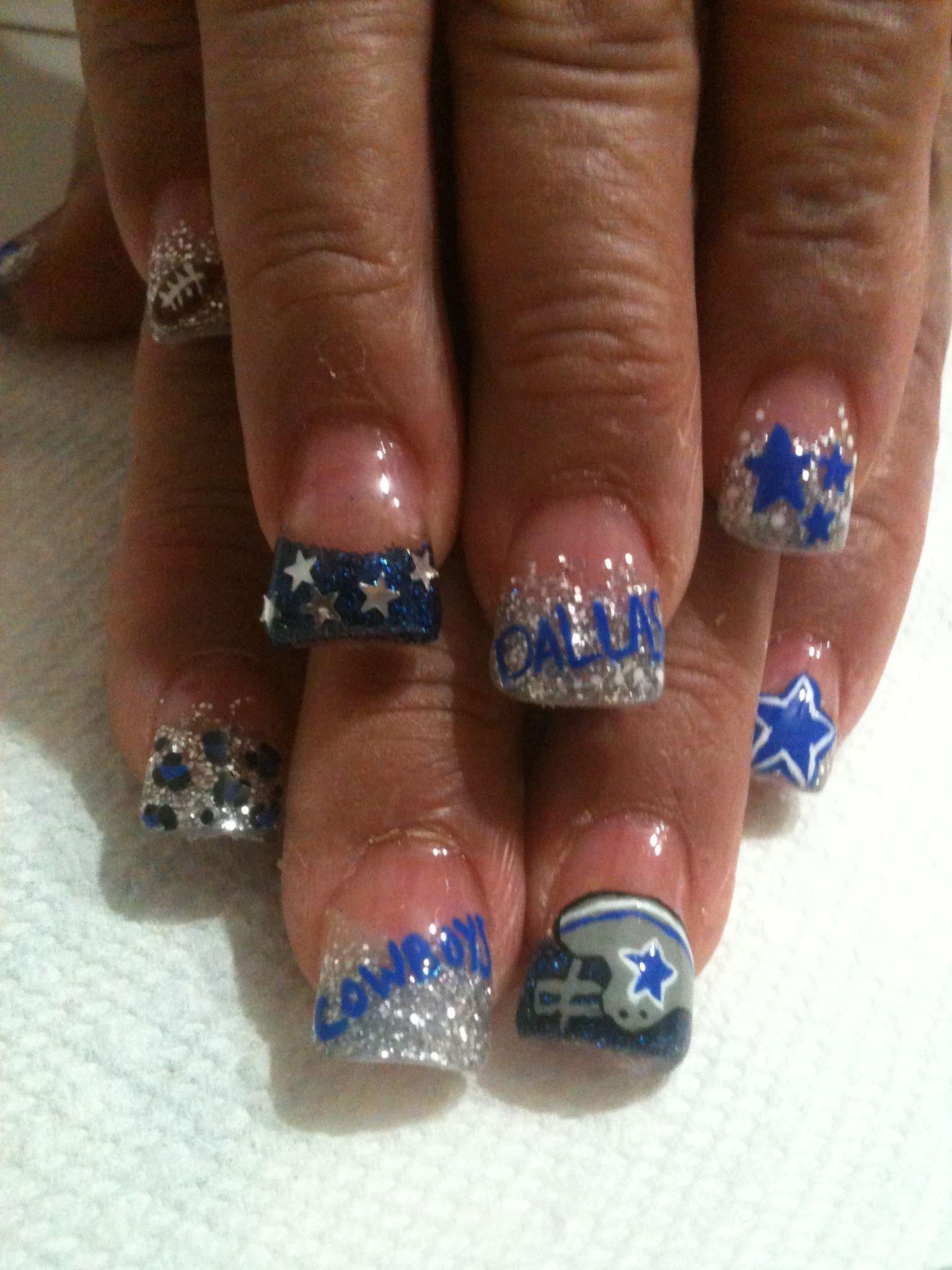 Dallas cowboys nail art | Nails | Pinterest | Dallas cowboys nails ...