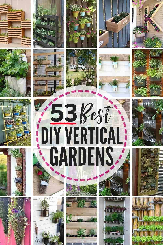 28 Best DIY Vertical Garden Ideas!  Vertical garden diy, Vertical
