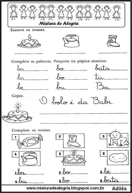 Cartilha De Alfabetizacao 1ª Parte Familias Silabicas Imprimir E