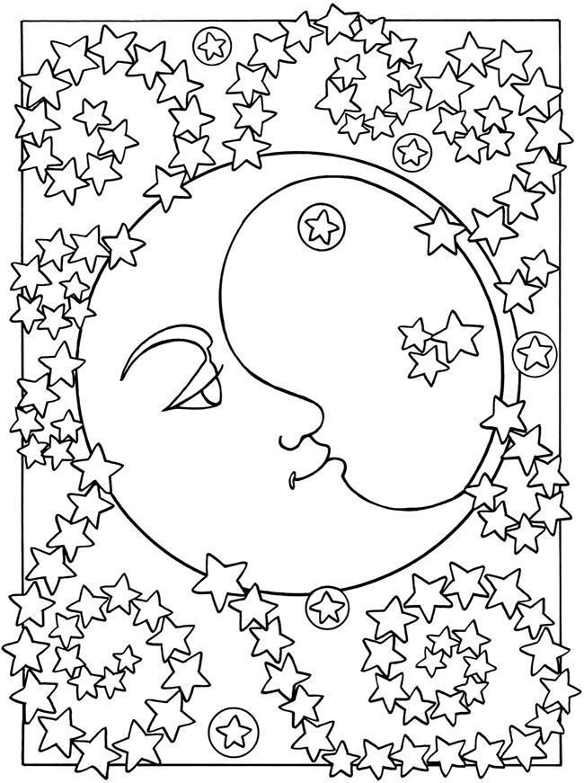 Welcome to dover publications sun moon and stars designs to color moon coloring pagesadult