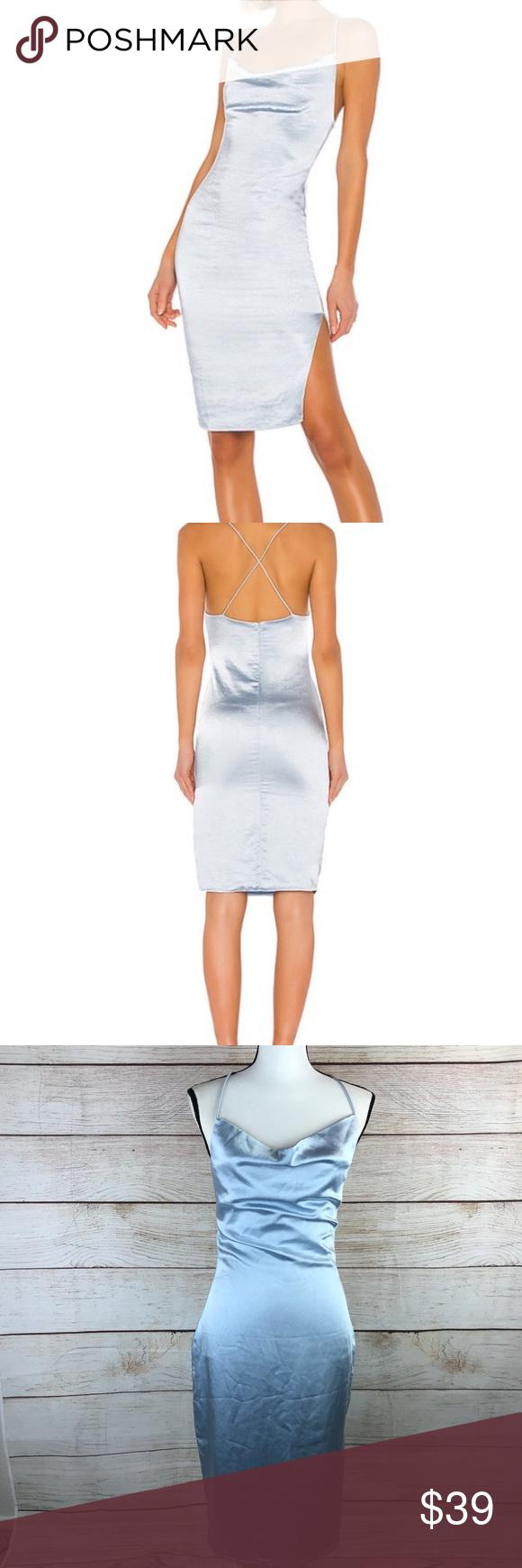 Revolve Superdown Billie Drape Midi Dress Draped Midi Dresses Dusty Blue Dress Dresses [ 1740 x 580 Pixel ]