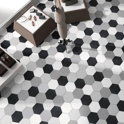 Tessile Hex 9 X 10 Porcelain Field Tile Carrelage Gres Cerame