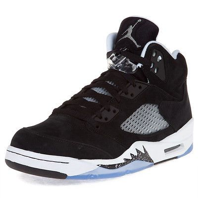Black � Nike Mens Air Jordan 5 Retro \