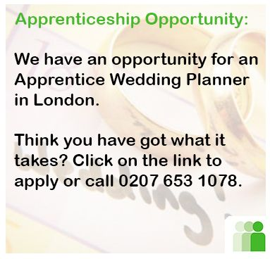 Fancy working as a Wedding Planner? We have an