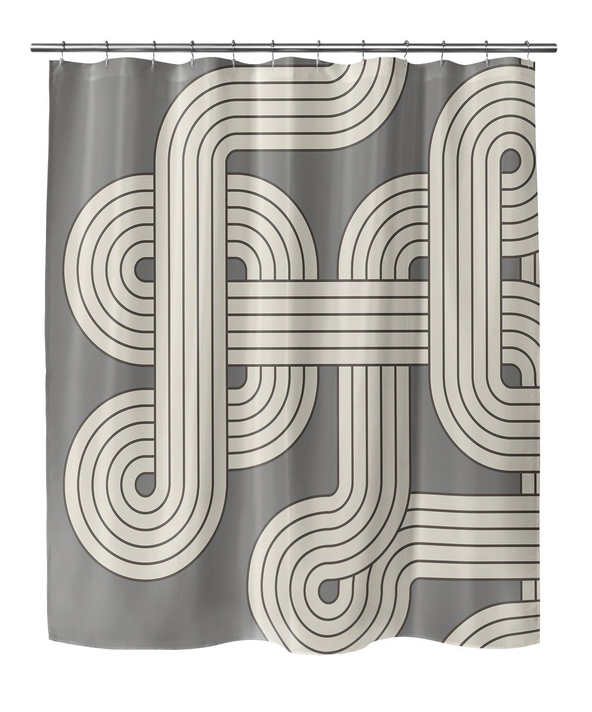 Photo of RICCARDO GREY Shower Curtain By Terri Ellis – 70in x 72in