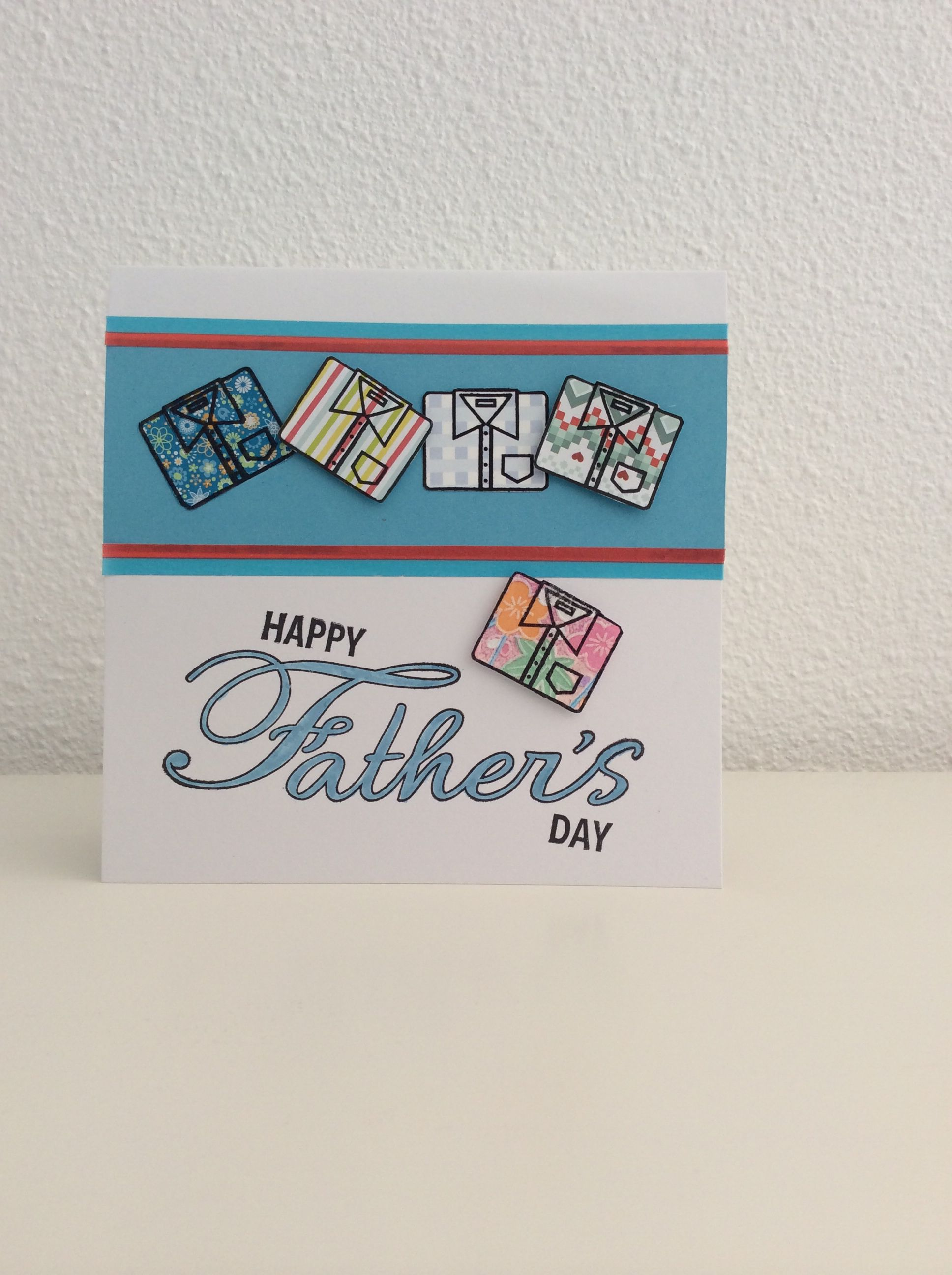 Kaart Happy father's day shirts