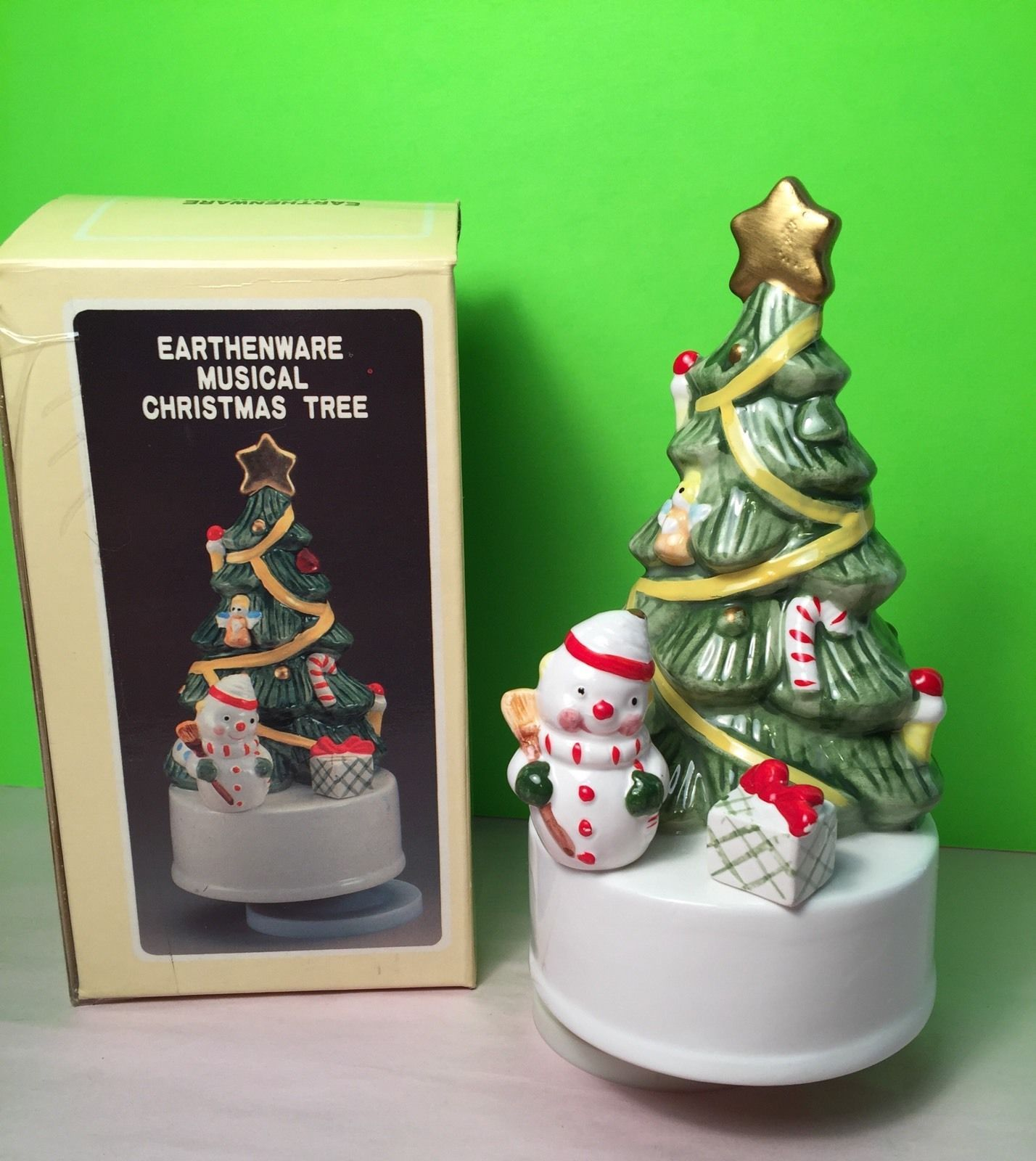 vintage earthenware musical christmas tree ebay