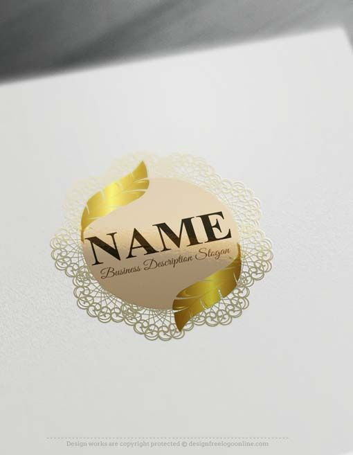 Online free logo maker feather pen design