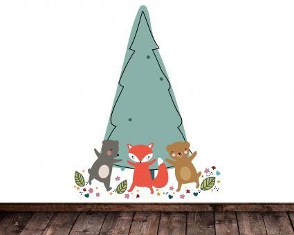 Wandtattoo Animal Party Wanddeko fürs Kinderzimmer
