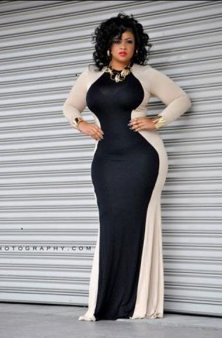 That is a nice dress! This dress looks really nice on her curvaceous frame.  I love this dress! Curvy Girl Fashion 88ff5ed83e82
