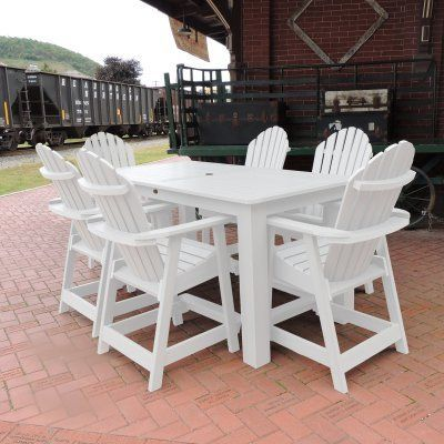 Outdoor Highwood Hamilton Recycled Plastic 7 Piece Rectangle