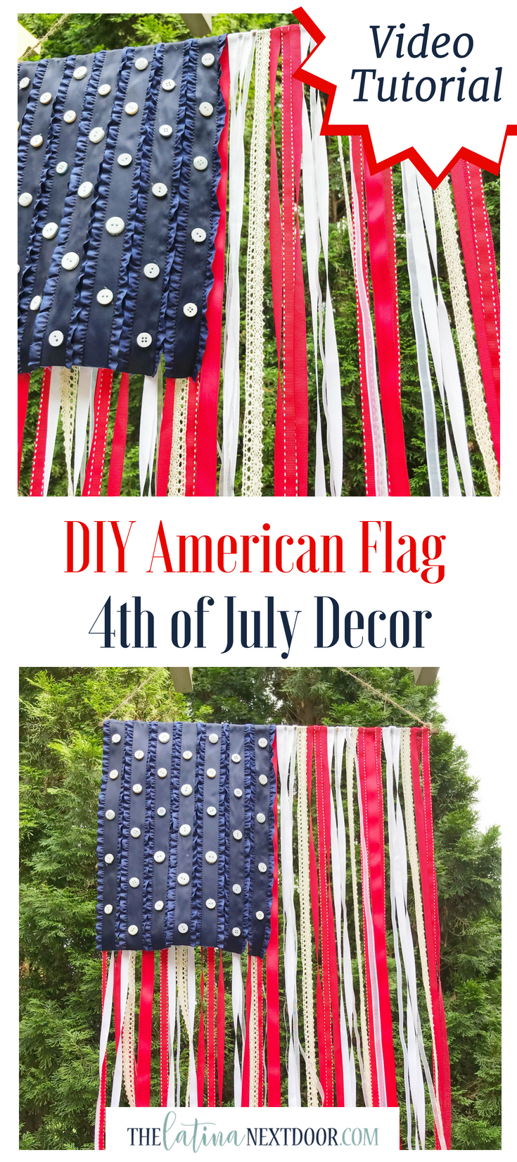 Diy American Flag For 4th Of July July Crafts 4th Of July Cool Diy Projects