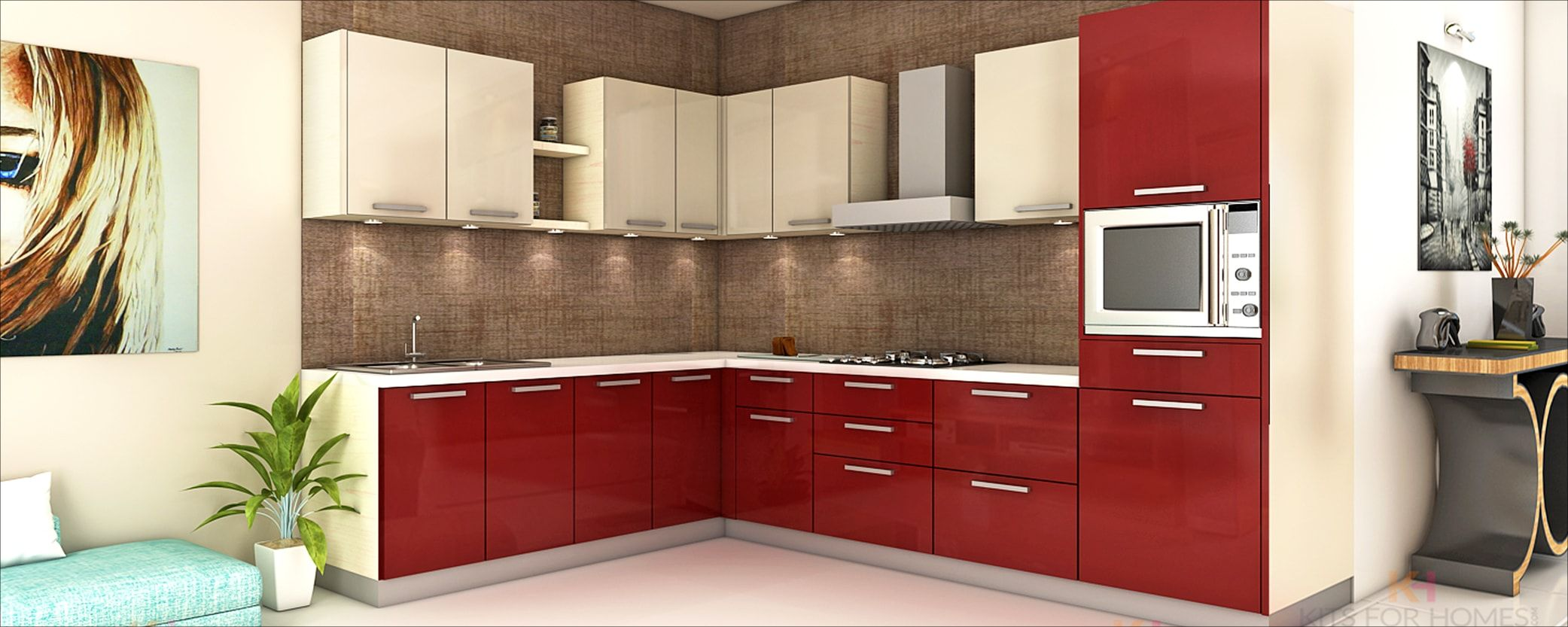 L Shaped Kitchenkitsforhomes  Modular Kitchens  Pinterest Alluring Kitchen Designs Online Review