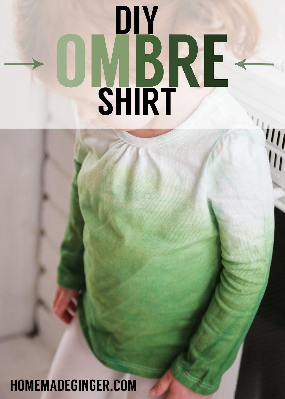 DIY Ombre Shirt | Estampado, Arreglos y Ideas para