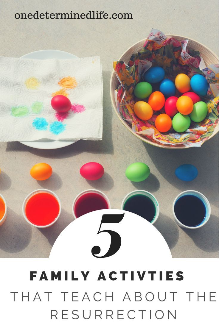 Family Activities that teach about the Resurrection Family Activities that teach kids about the resurrection,