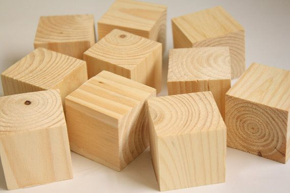 Pack Of 12 One Dozen Unfinished Recycled Wood 1 1 2 Etsy Crafts Diy Blocks Etsy Crafts