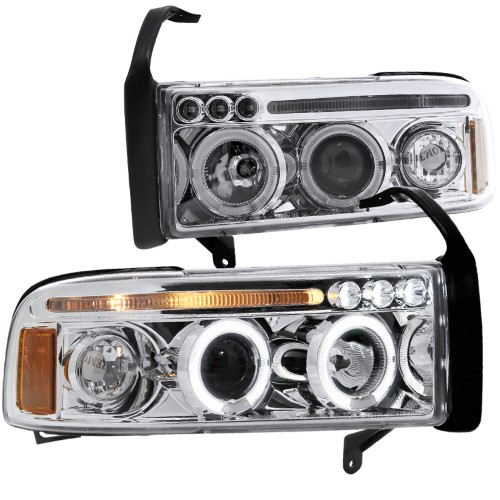 Spec D Tuning 1994 2001 Ram 1500 Led Halo Projector Headlights 1994 1995 1996 1997 1998 1999 2000 2001 1994 1995 1996 1997 1998 1999 2000 2001 Left Right Projector Headlights Led Halo