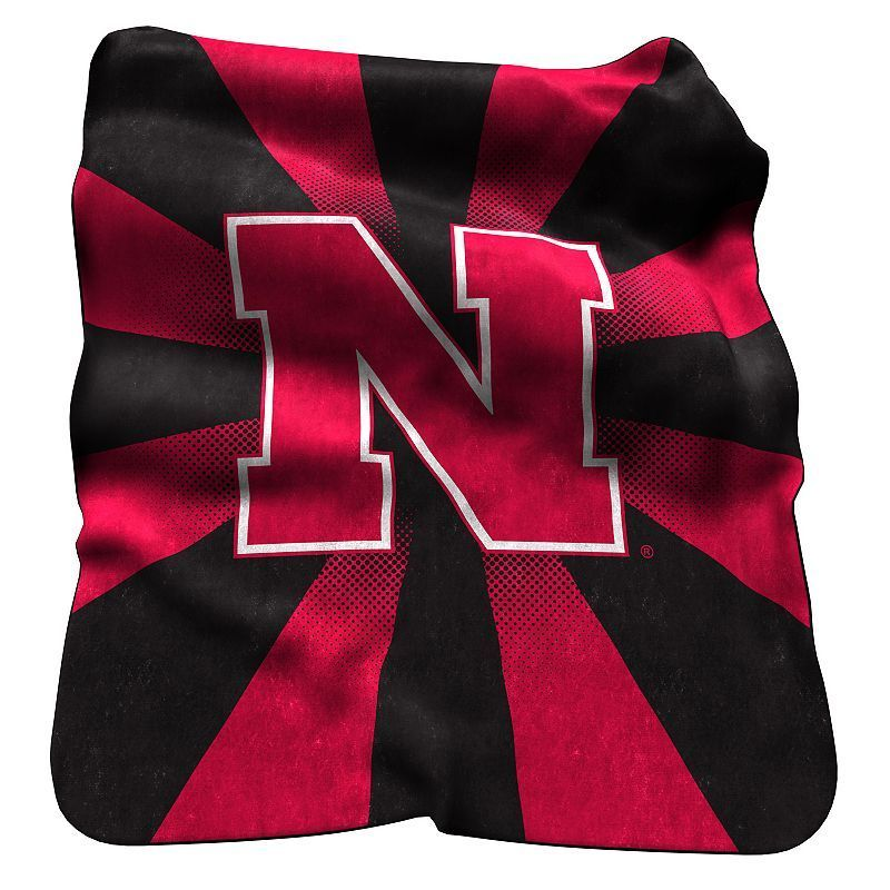Logo Brand Nebraska Cornhuskers Raschel Throw Blanket, Multicolor