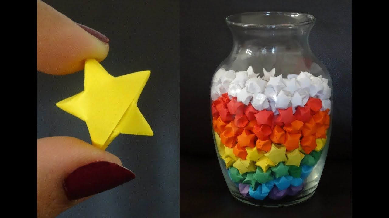 How to make paper stars - paper folding - christmas crafts - YouTube   720x1280