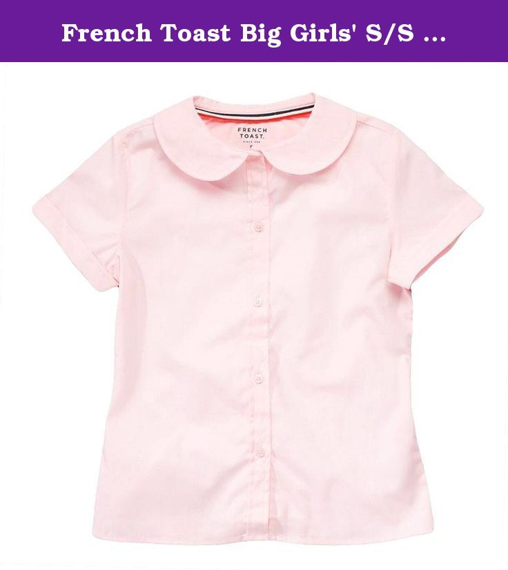 4aba19daa0b French Toast Big Girls  S S Peter Pan Fitted Shirt - pink