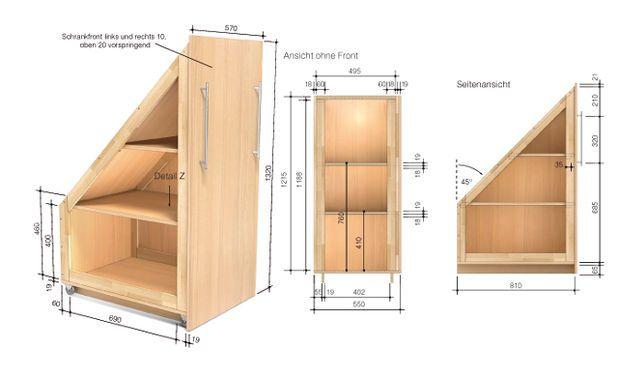 drempelschrank bauen combles rangement et sous escalier. Black Bedroom Furniture Sets. Home Design Ideas