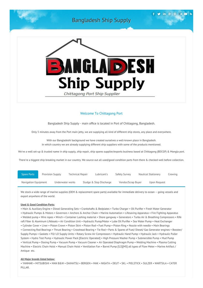 Bangladesh Ship Supply Country backgrounds, Bangladesh