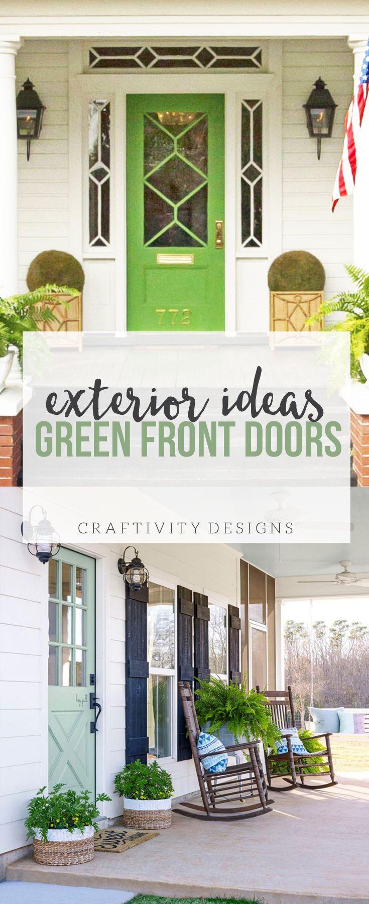 3 season porch window ideas   gorgeous grey front door ideas for your porch  green front doors