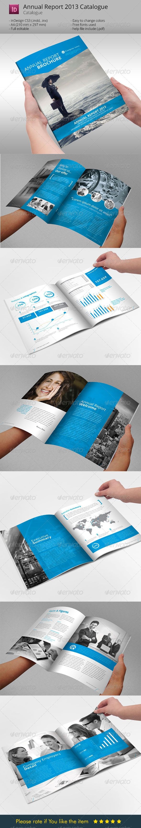 Annual Report Brochure Indesign Template | Catálogo