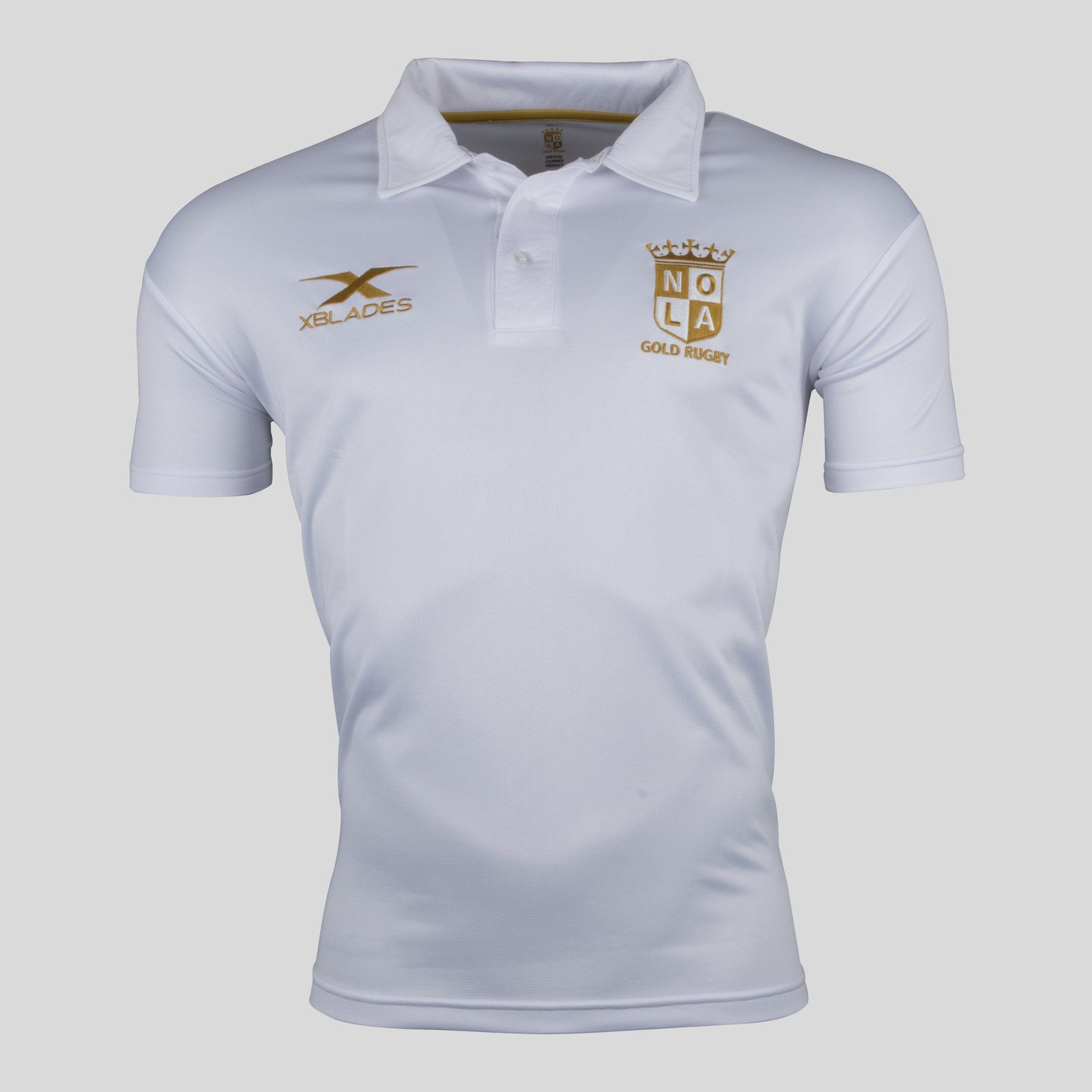 833eedf1540 New Orleans Gold MLR 2018 Players Rugby Polo Shirt - Uk Rugby Shop major  league rugby