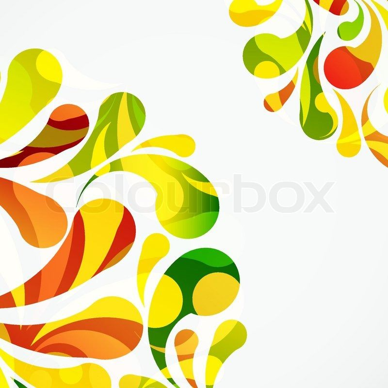 Stock vector of 'Decorative colorful arc drops background'