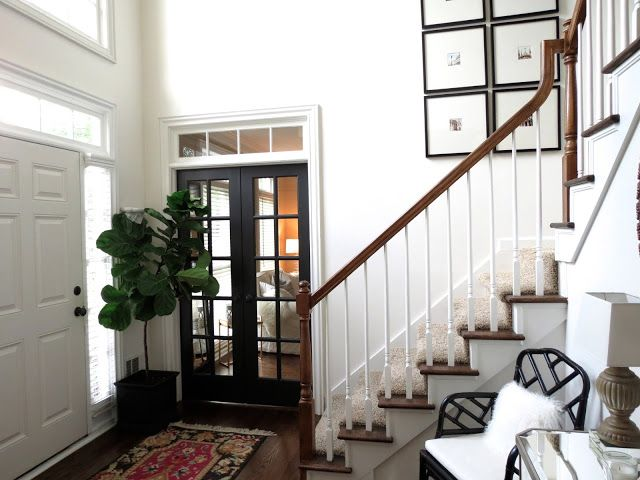White Paint Is Behr White Truffle French Doors Are Behr