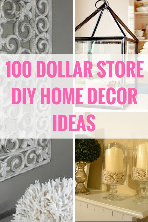 100 Dollar Store DIY Home Decor Ideas | Pound shops, Mirrored ...
