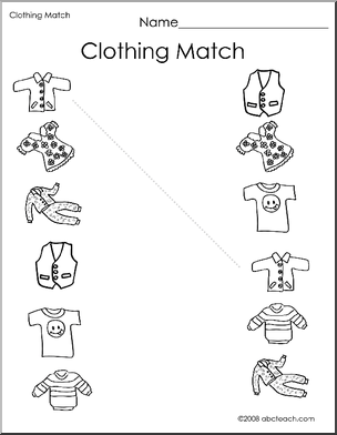 kindergarten worksheet clothes google search esl teaching kindergarten worksheets. Black Bedroom Furniture Sets. Home Design Ideas