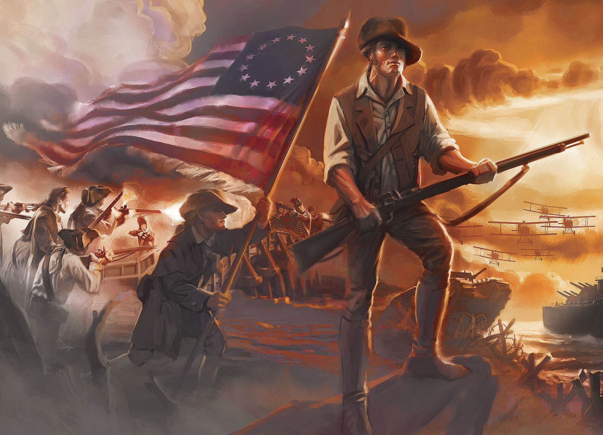 American Revolutionary War American Revolutionary War Revolution Art American War Of Independence