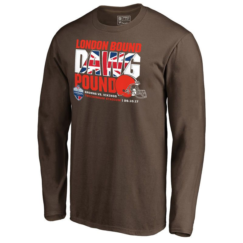 Cleveland Browns London Games 2017 T Shirt Mens Fanatics
