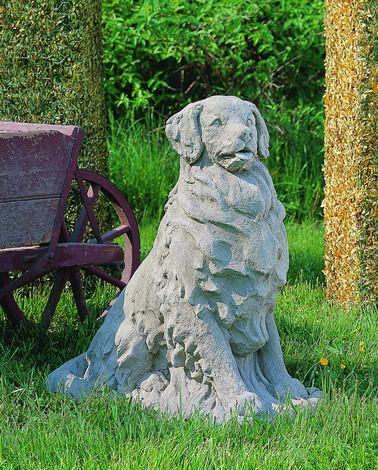 Golden Retriever Cast Stone Dog Statue Made By Campania International