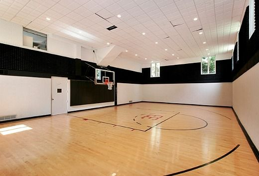 Mansion with indoor basketball court  Magnificent Gated Mansion in Dallas Indoor Basketball Court ...