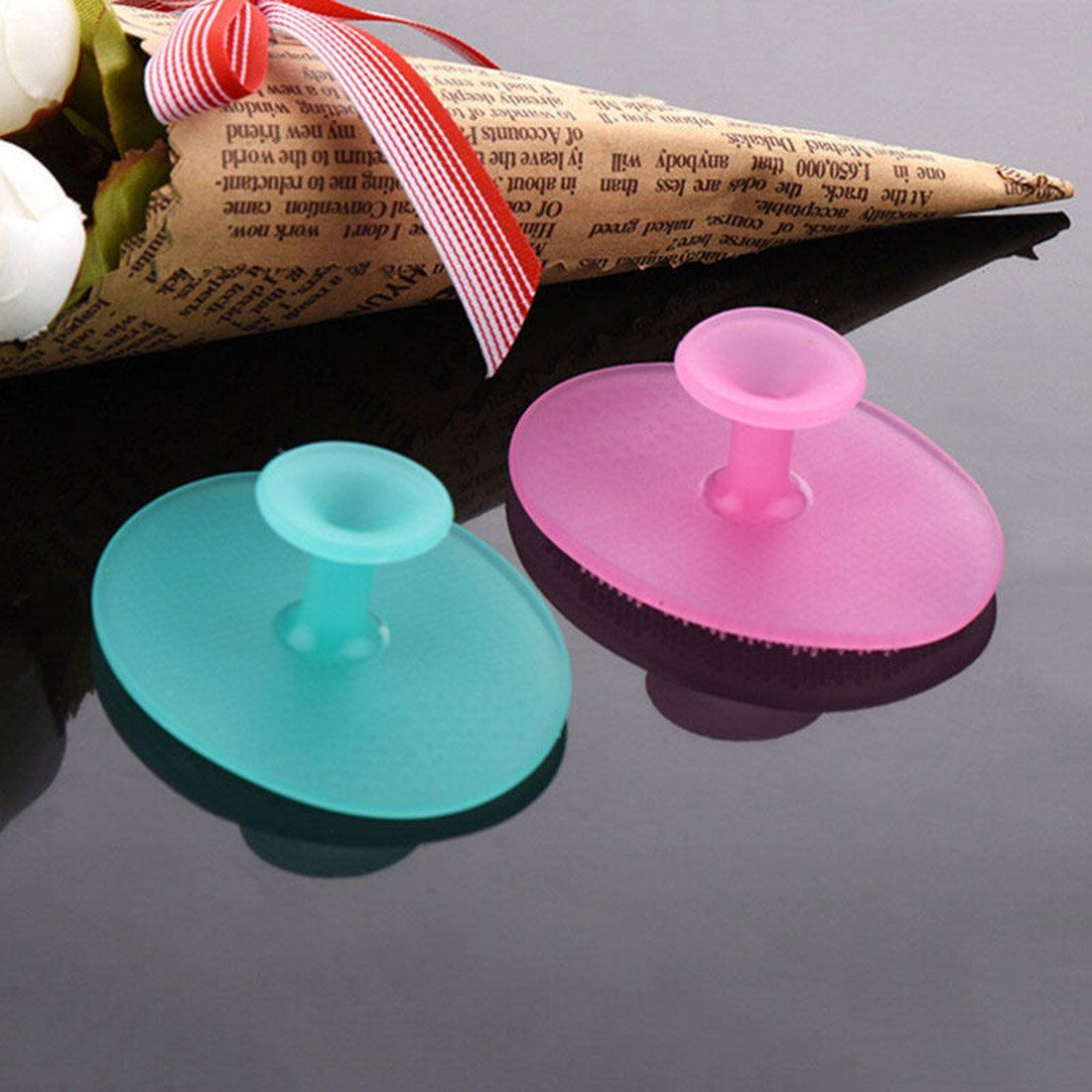 Good Sale 1 PC Silicone Gel Egg Shaped Washing Face Cleaning Pad ...
