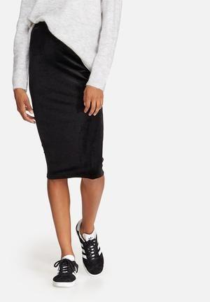 1e822f356893 Dailyfriday Velvet Pencil Skirt Black | Clothes | Pencil skirt black ...
