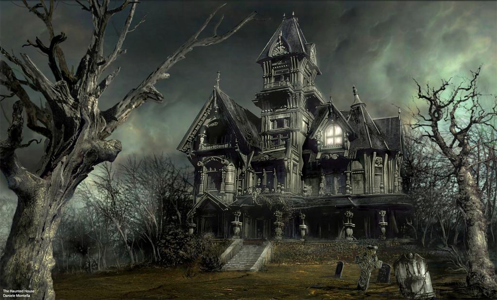 Haunted House Daniele Montella Scary Houses Spooky House Halloween Haunted Houses