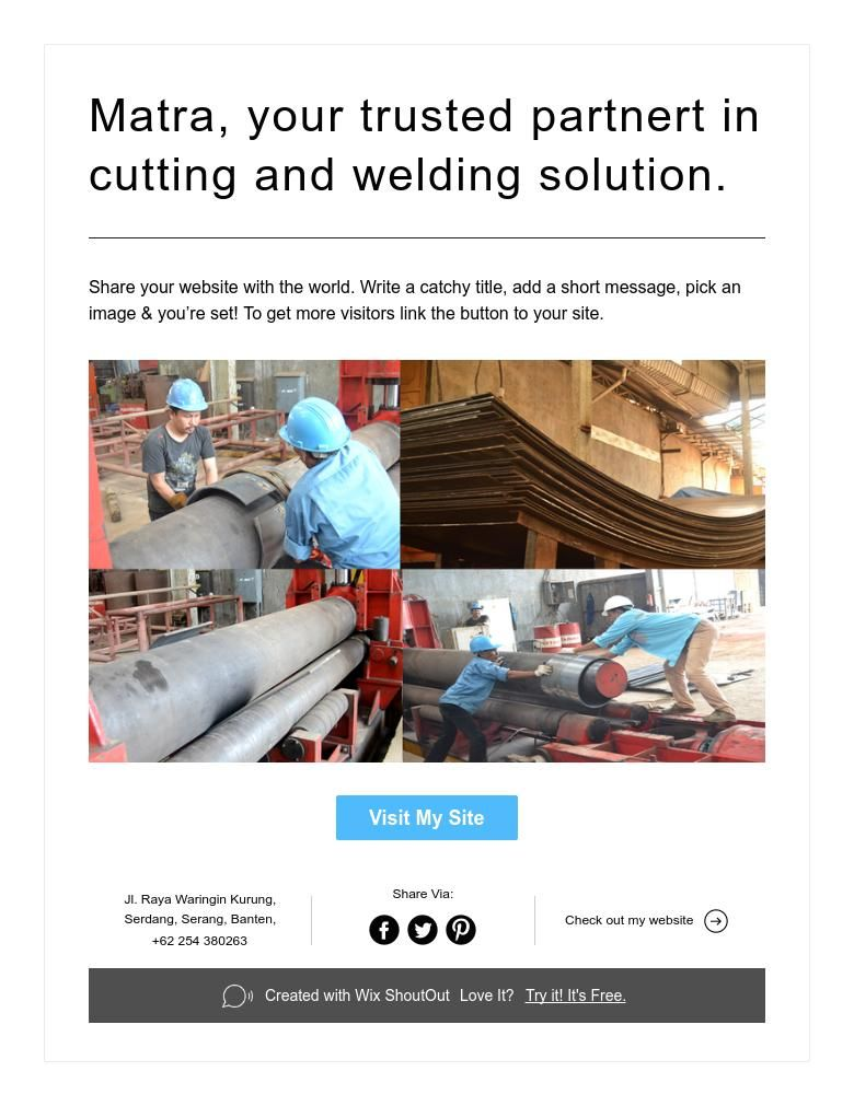 Matra, your trusted partnert in cutting and welding solution.