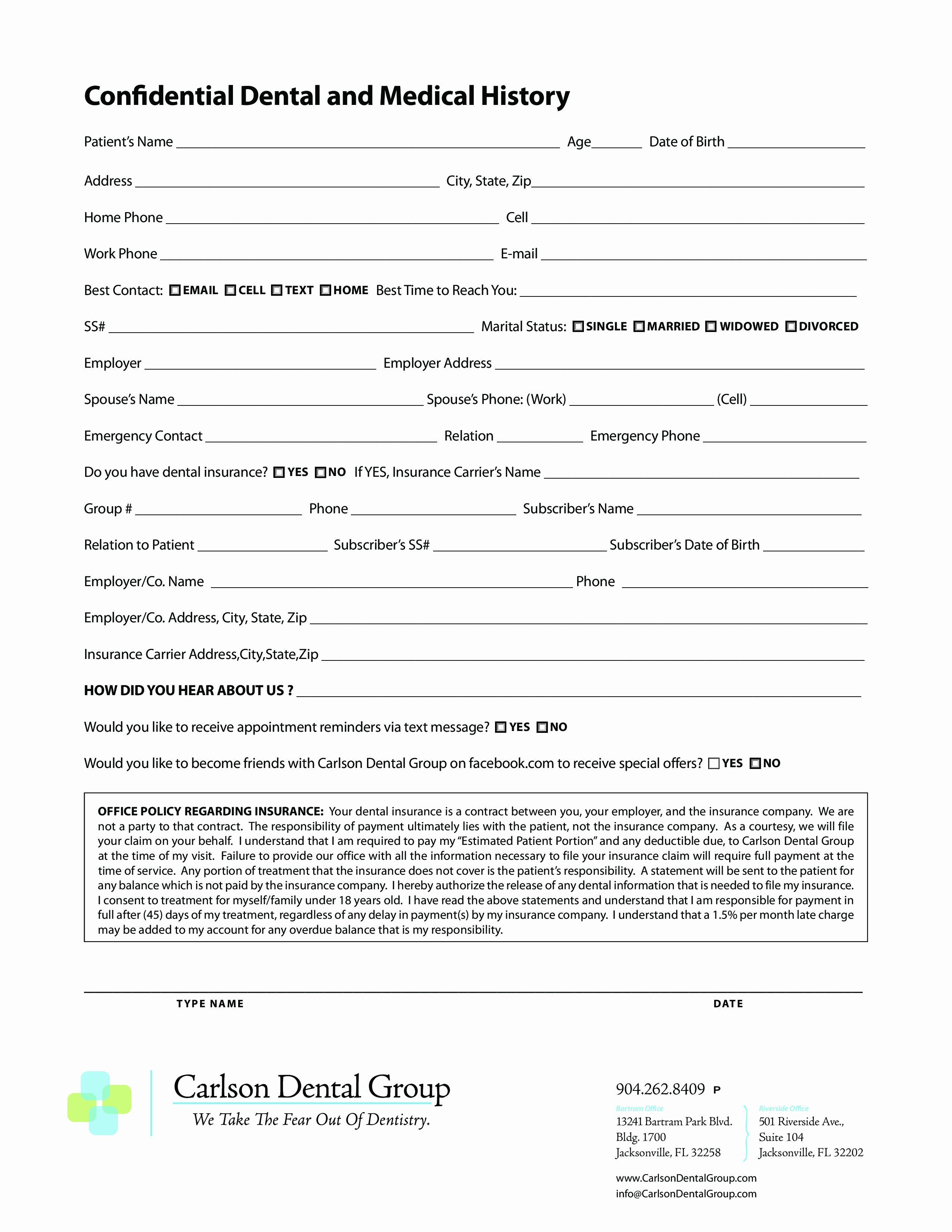 Medical History Forms Health History Form Click On To View With Medical History Form Health History Health History Form Family Health History