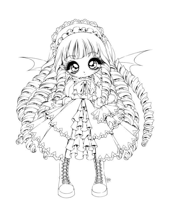 Vampire Girl By Sureya Deviantart Com On Deviantart Princess Coloring Pages Cute Coloring Pages Anime Wolf Girl