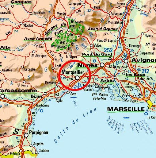biography Nostradamus map Montpellier I had links to Marseille