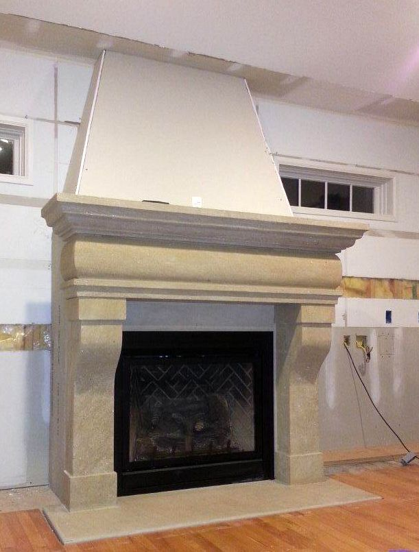 Natural Stone Fireplace Projects Sandstone French Fireplace Rustic
